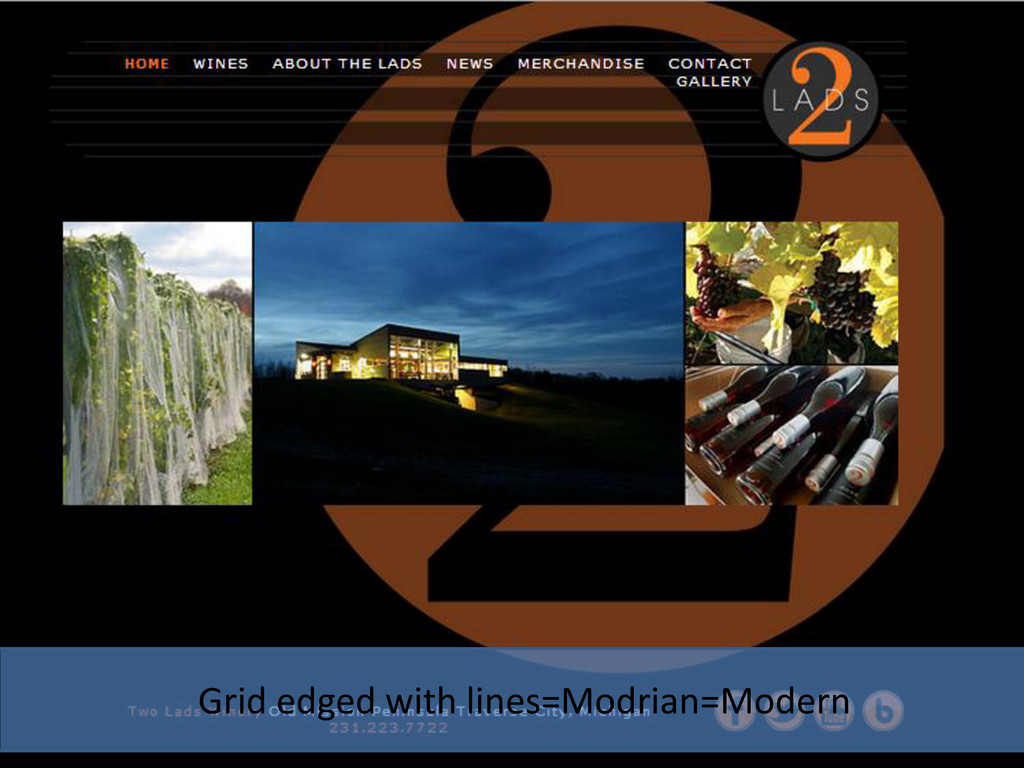 Grid edged with lines=Modrian=Modern