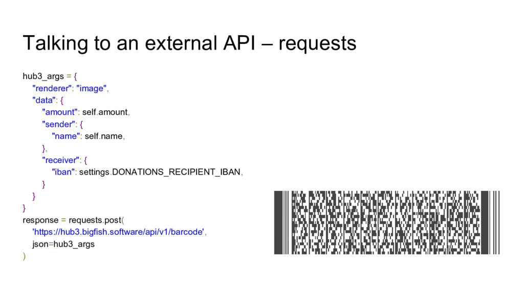 Talking to an external API – requests hub3_args...