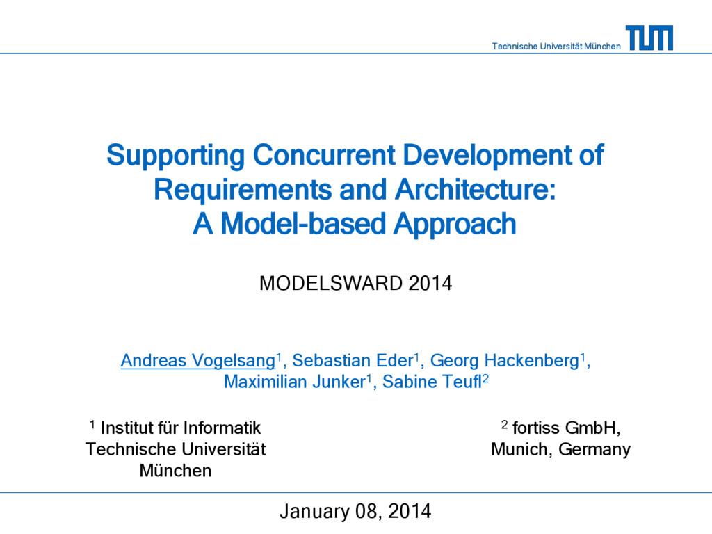 Technische Universität München Supporting Concu...