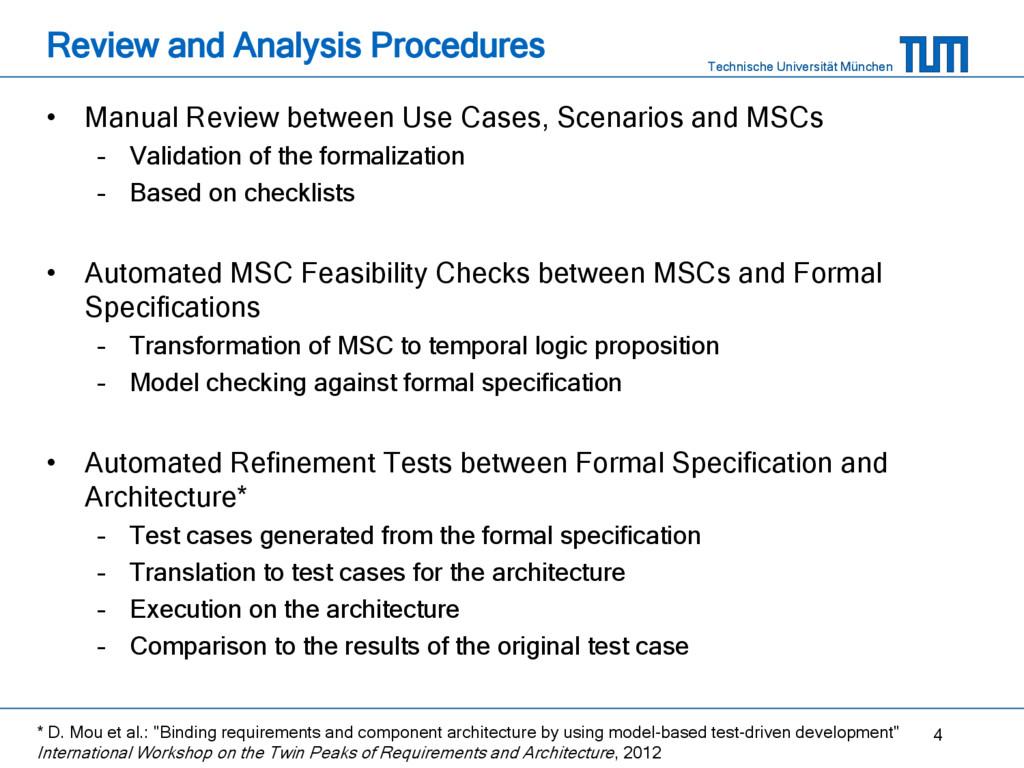 Technische Universität München Review and Analy...