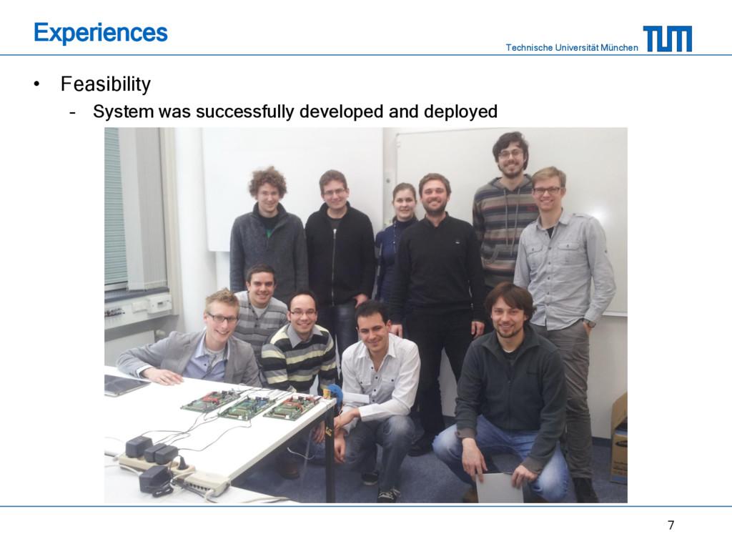 Technische Universität München Experiences • Fe...