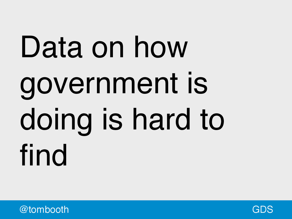 GDS @tombooth Data on how government is doing i...