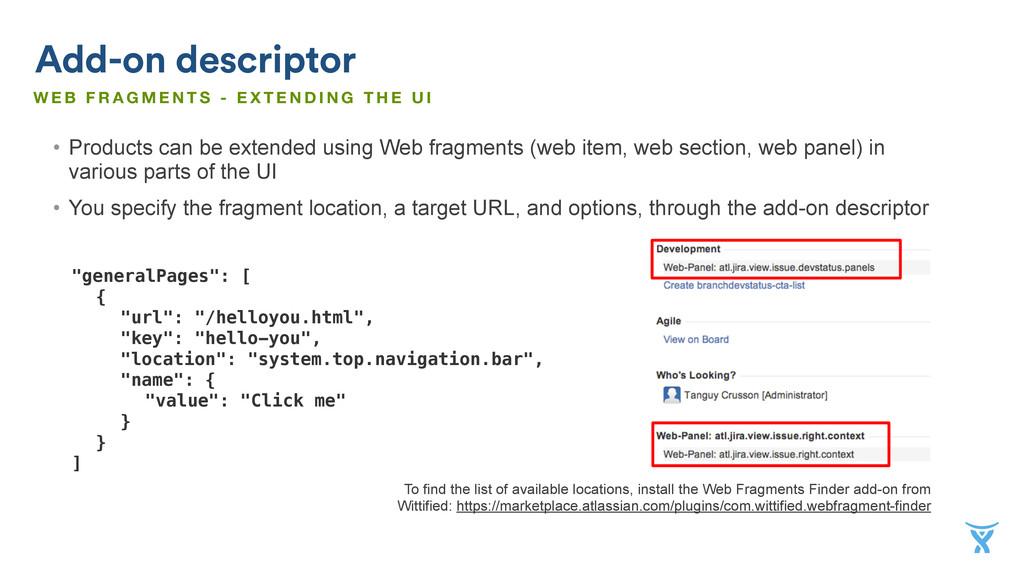 "Add-on descriptor ""generalPages"": [ { ""url"": ""/..."