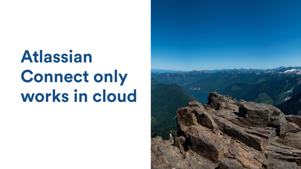 Atlassian Connect only works in cloud