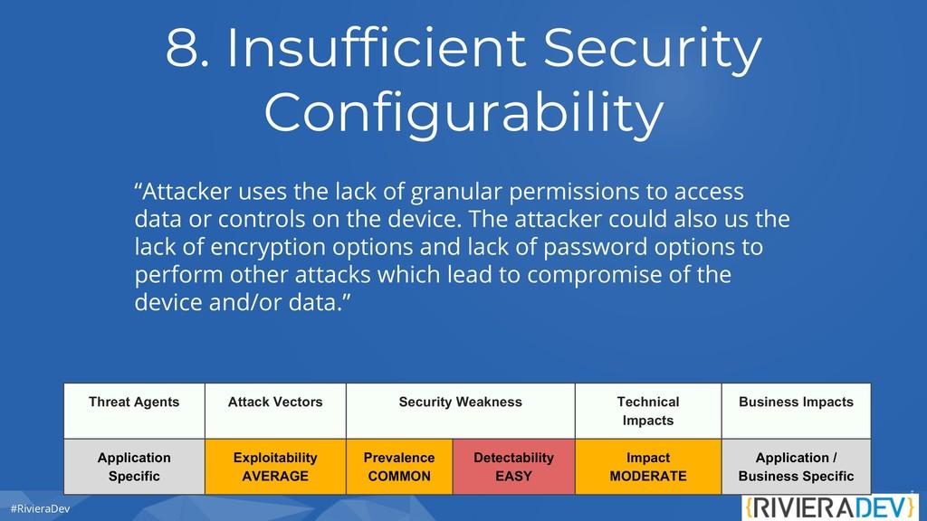 #RivieraDev 8. Insufficient Security Configurab...