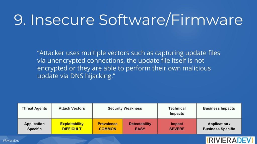 "#RivieraDev 9. Insecure Software/Firmware ""Atta..."