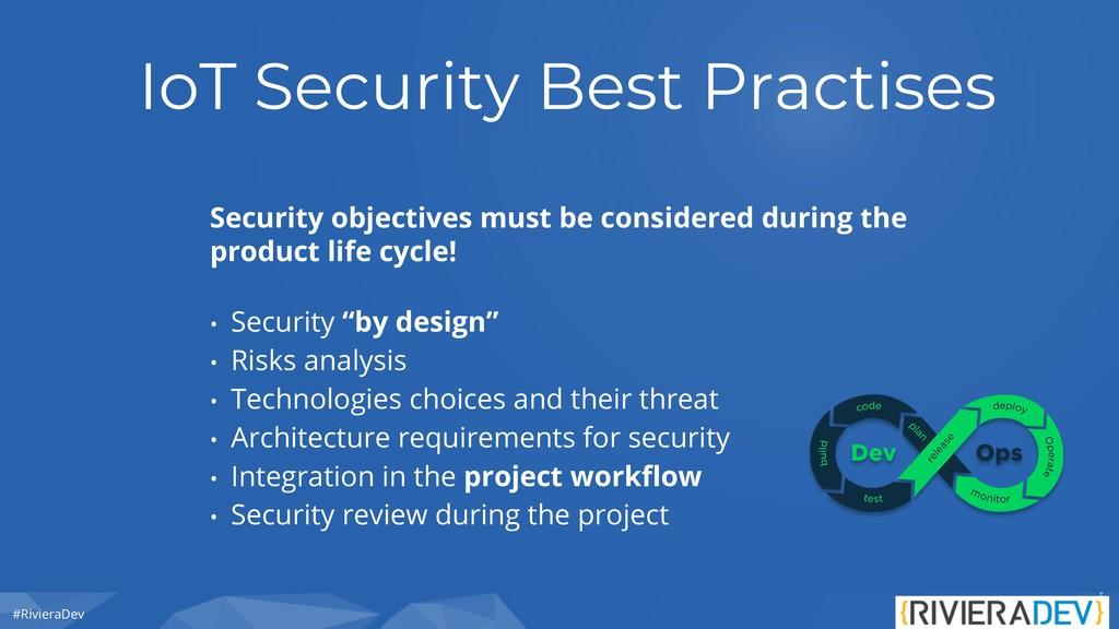#RivieraDev IoT Security Best Practises Securit...