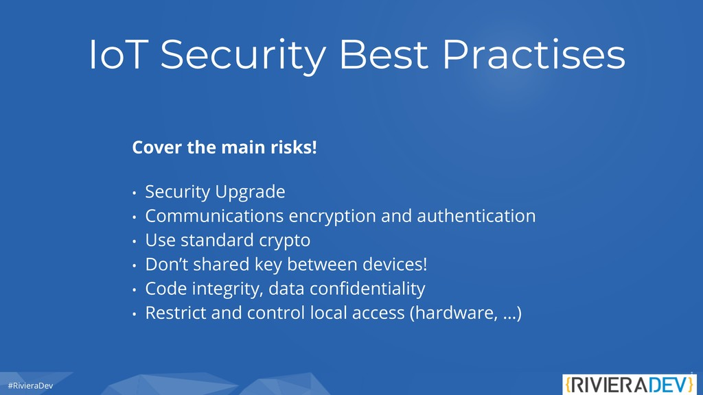 #RivieraDev IoT Security Best Practises Cover t...