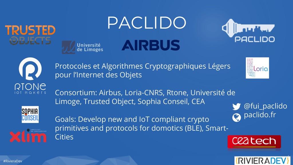 #RivieraDev PACLIDO Protocoles et Algorithmes C...