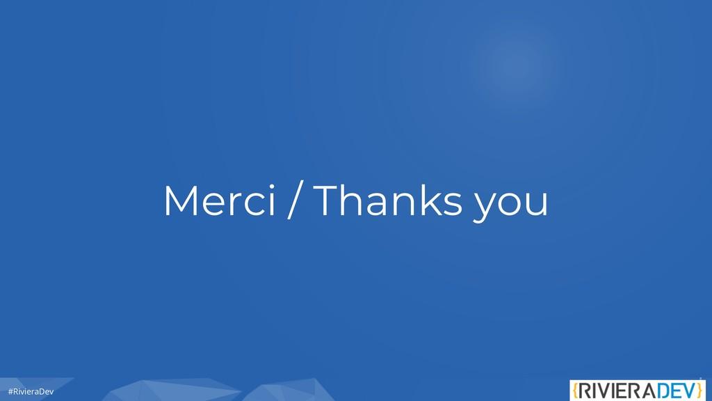 #RivieraDev Merci / Thanks you