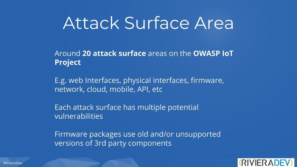 #RivieraDev Attack Surface Area Around 20 attac...