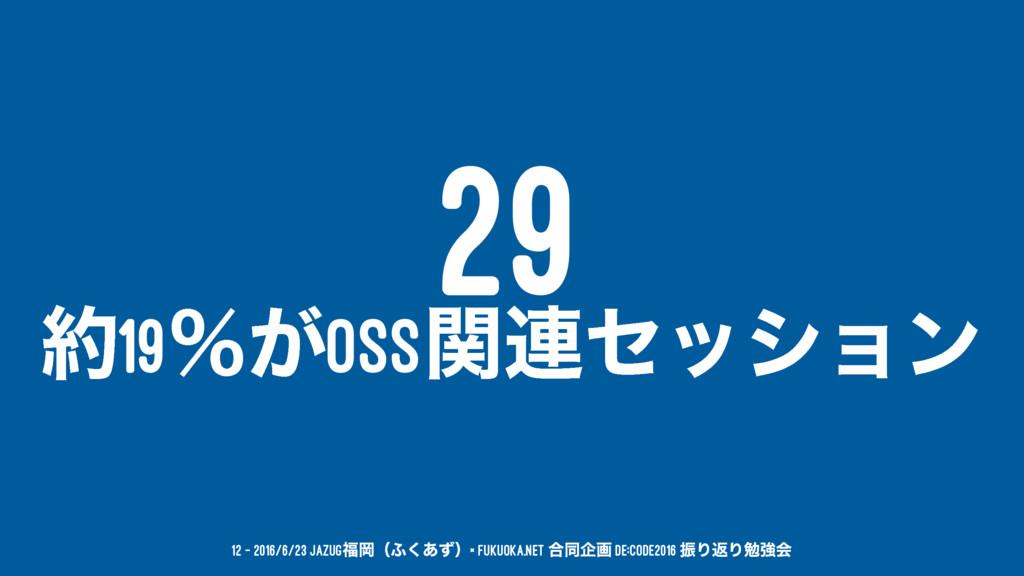 29 19ˋ͕OSSؔ࿈ηογϣϯ 12 — 2016/6/23 JAZUGԬʢ;͋ͣ͘ʣ...