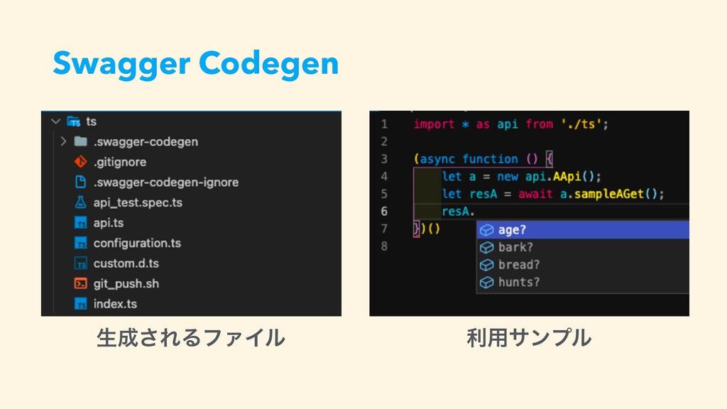 Swagger Codegen ੜ͞ΕΔϑΝΠϧ ར༻αϯϓϧ