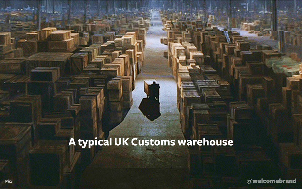 @welcomebrand Pic: A typical UK Customs warehou...