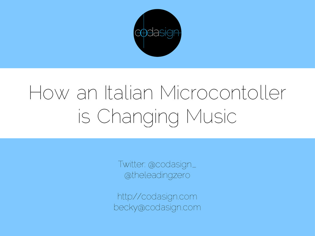 How an Italian Microcontoller is Changing Music...