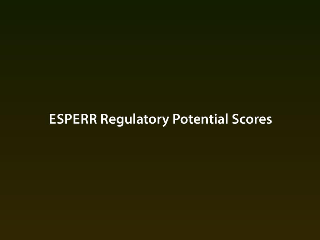 ESPERR Regulatory Potential Scores
