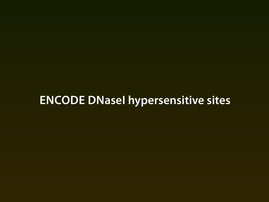 ENCODE DNaseI hypersensitive sites