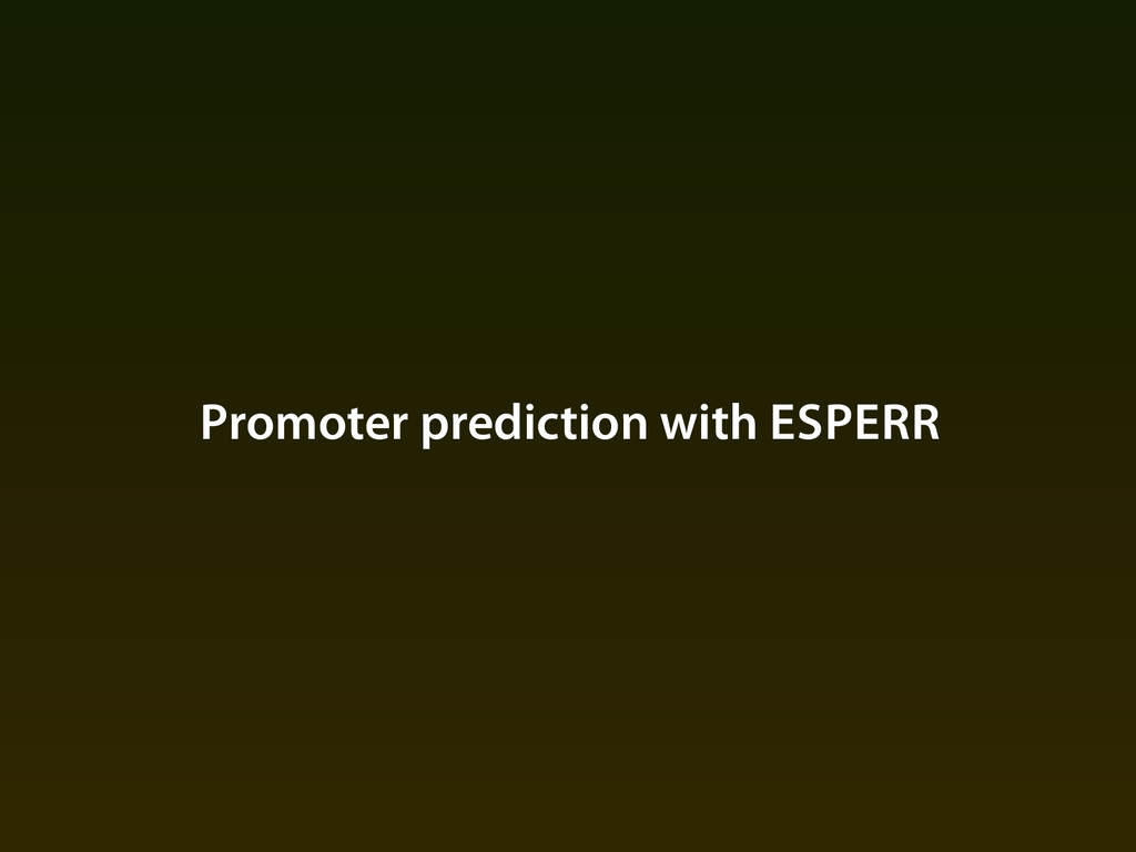 Promoter prediction with ESPERR