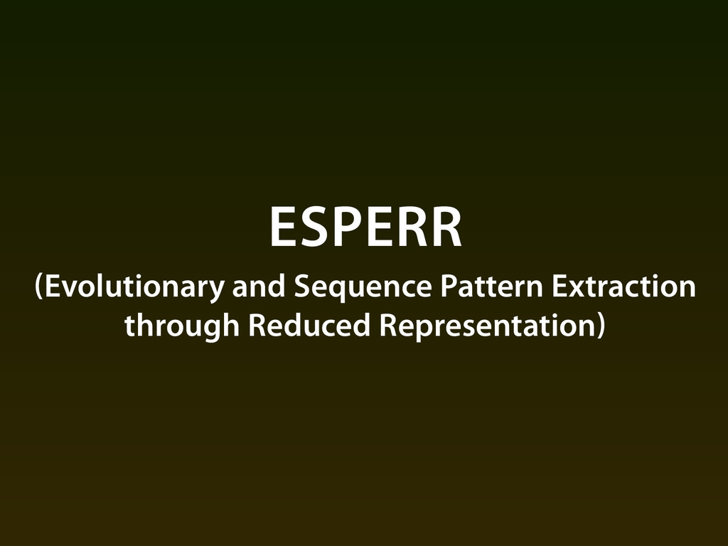 ESPERR (Evolutionary and Sequence Pattern Extra...