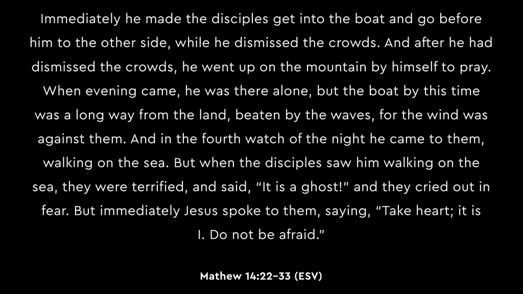 Immediately he made the disciples get into the ...