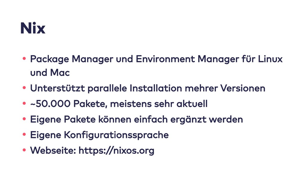 Nix • Package Manager und Environment Manager f...
