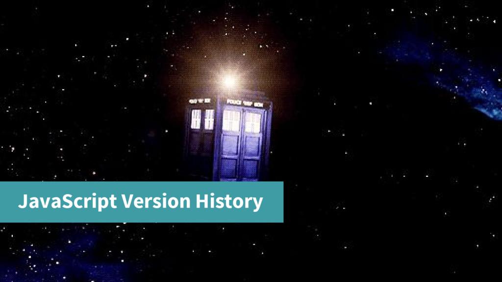 JavaScript Version History
