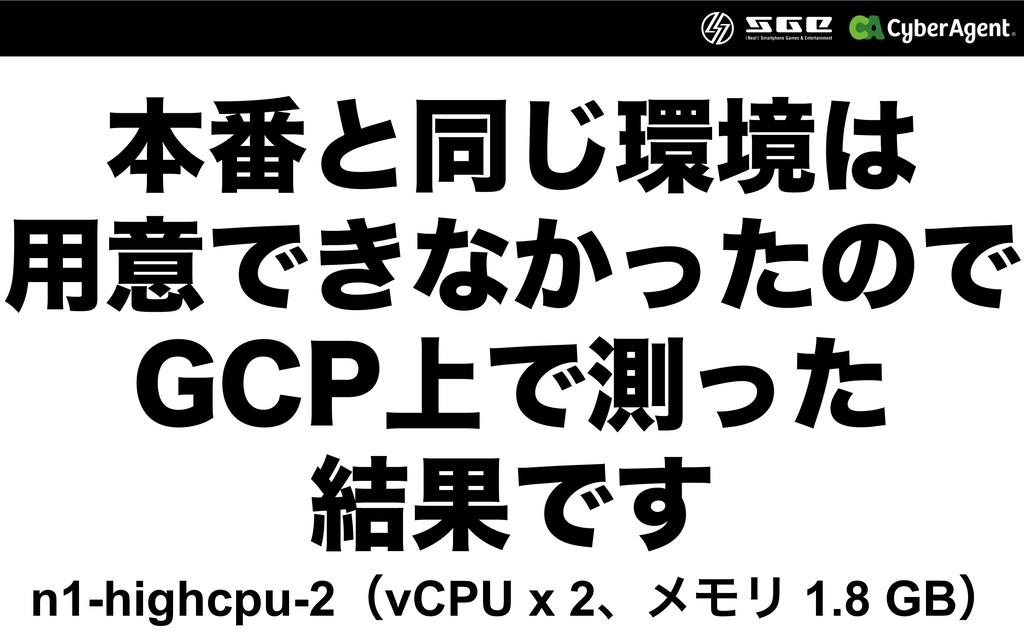 ຊ൪ͱಉ͡ڥ ༻ҙͰ͖ͳ͔ͬͨͷͰ ($1্Ͱଌͬͨ ݁ՌͰ͢ n1-highcpu...