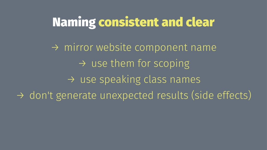 Naming consistent and clear → mirror website co...