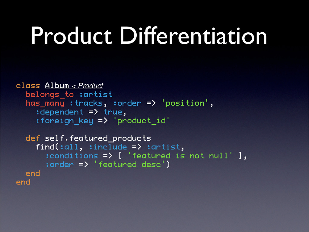 Product Differentiation class