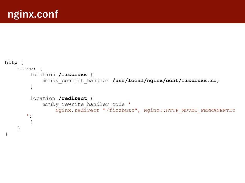 OHJOYDPOG http { server { location /fizzbuzz {...
