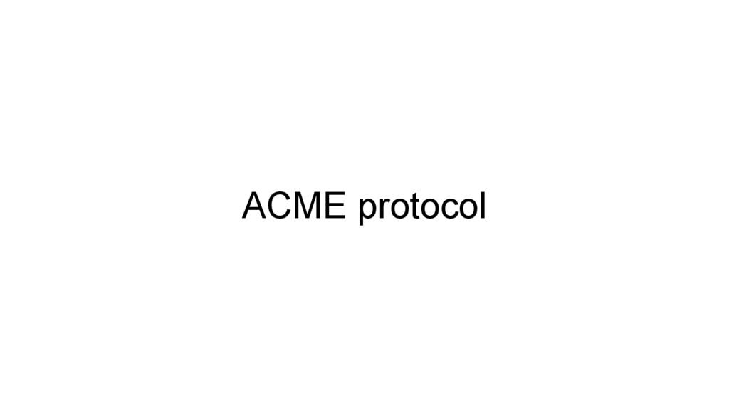 ACME protocol