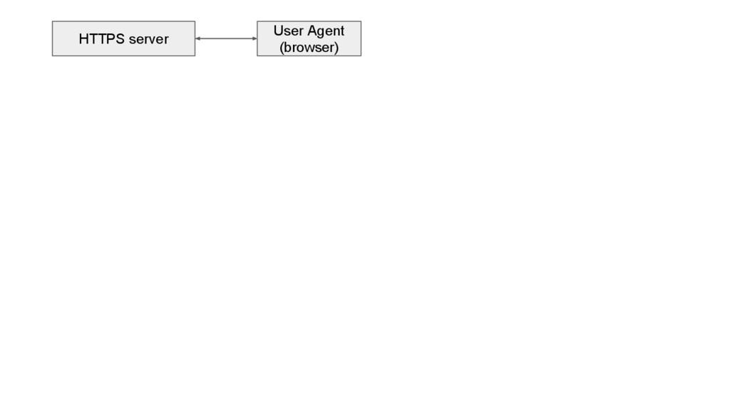 User Agent (browser) HTTPS server