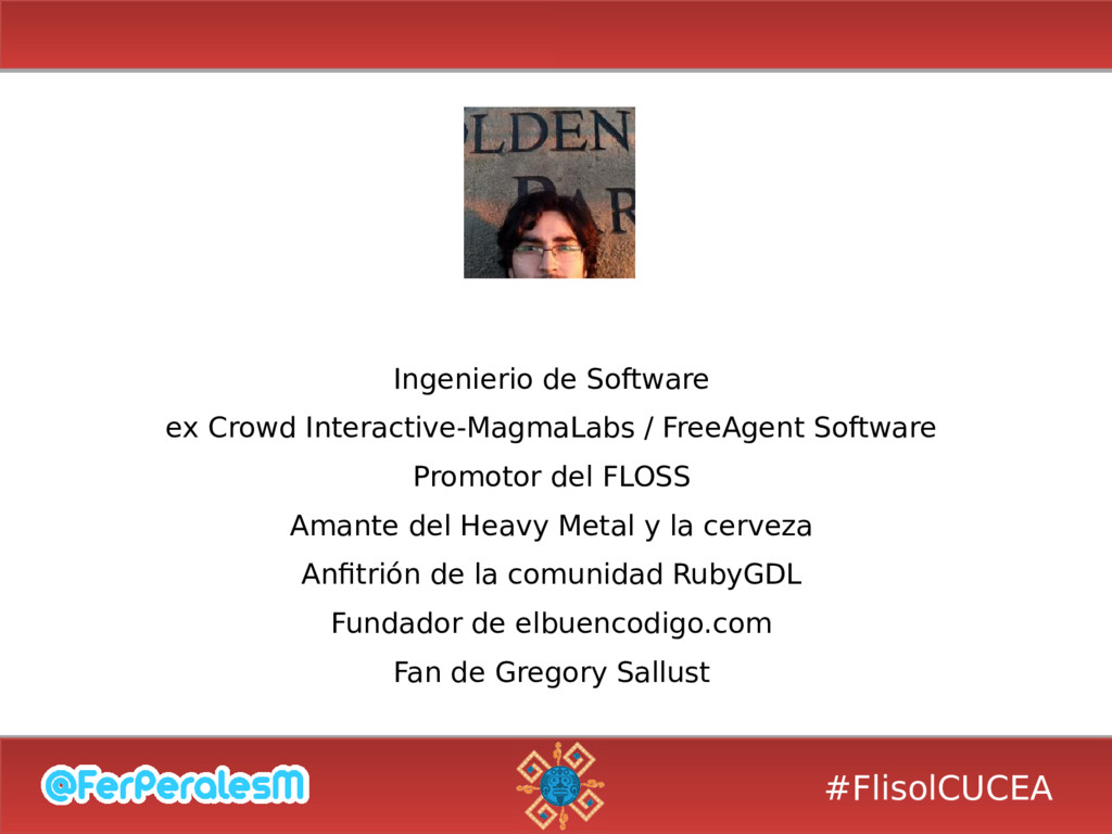 #FlisolCUCEA Ingenierio de Software ex Crowd In...