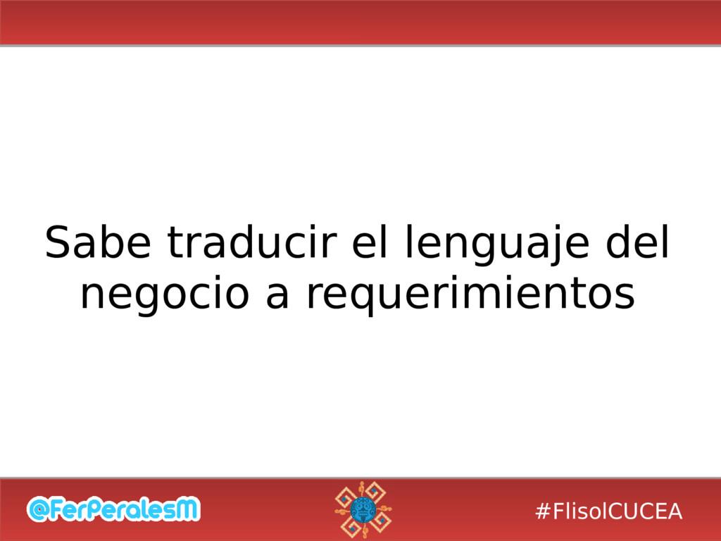 #FlisolCUCEA Sabe traducir el lenguaje del nego...