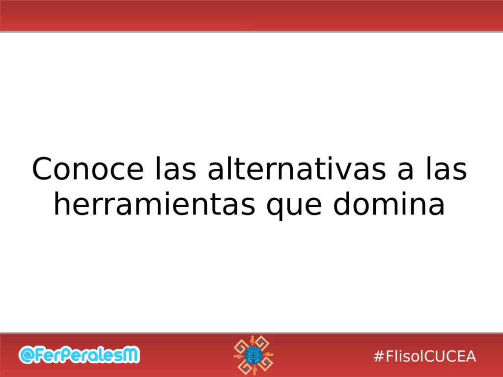 #FlisolCUCEA Conoce las alternativas a las herr...