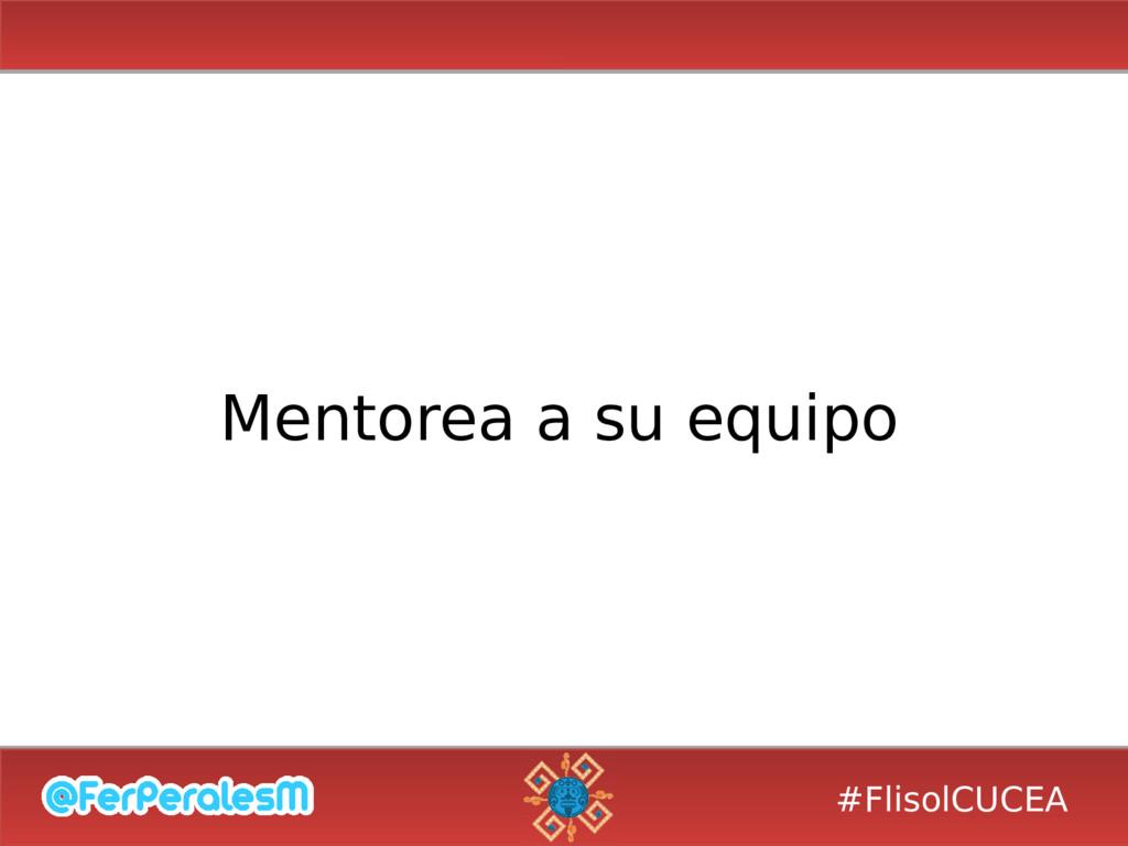 #FlisolCUCEA Mentorea a su equipo