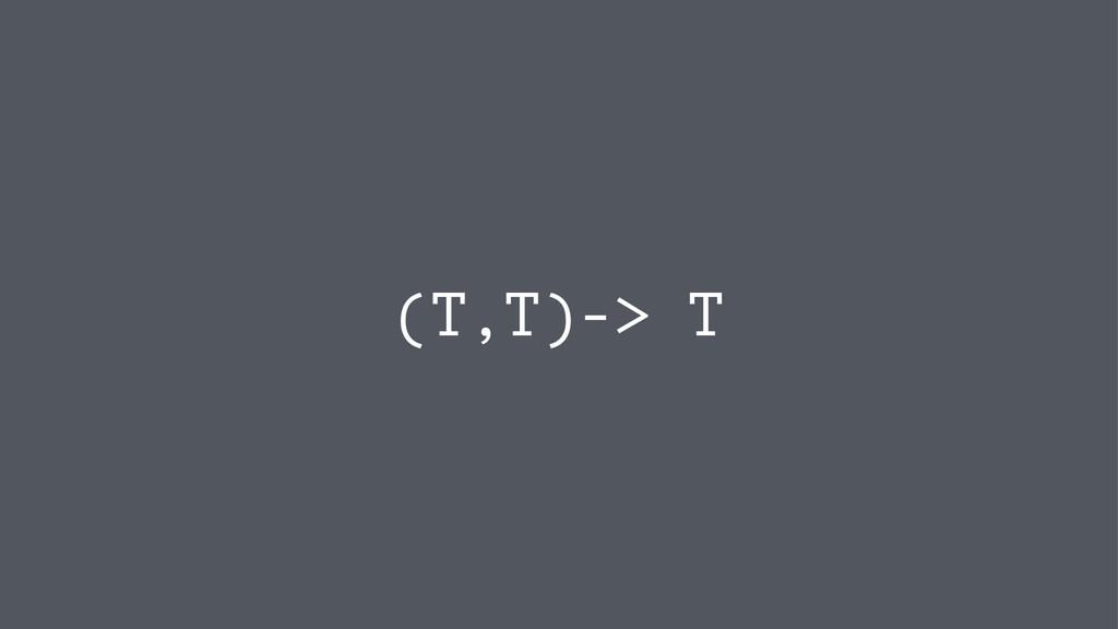 (T,T)-> T