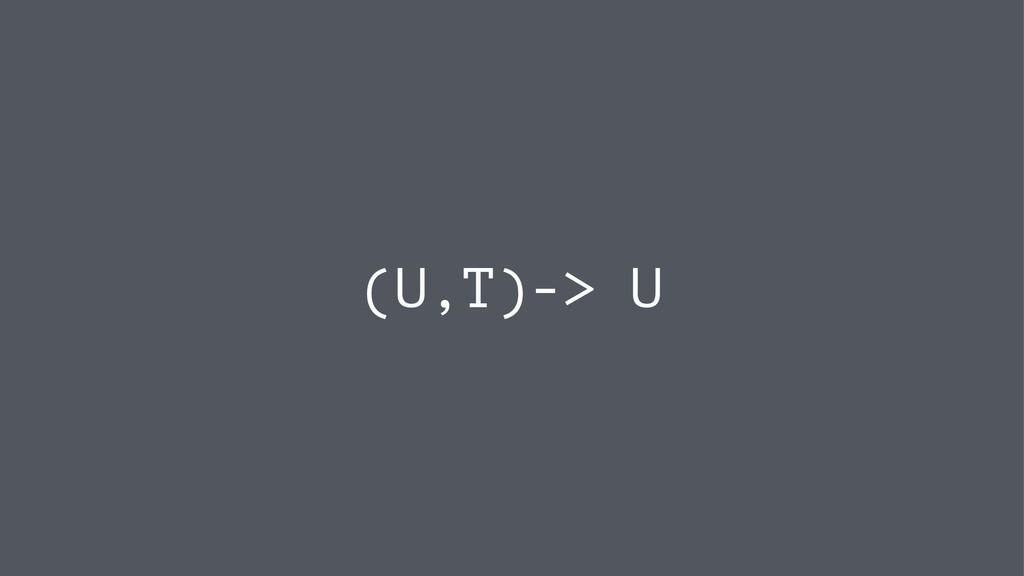 (U,T)-> U