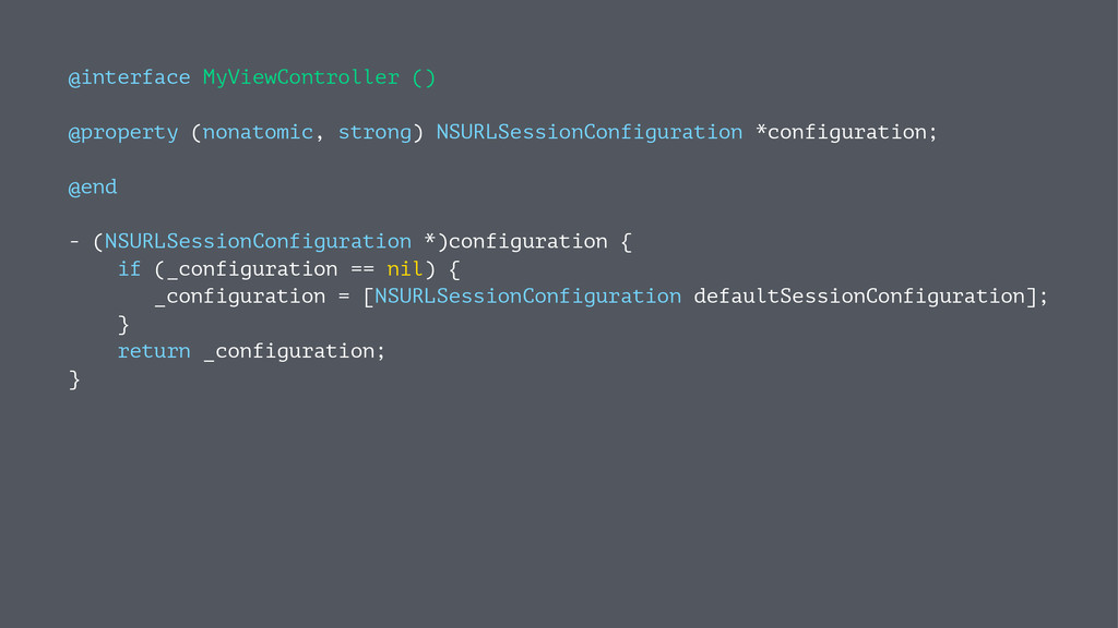 @interface MyViewController () @property (nonat...