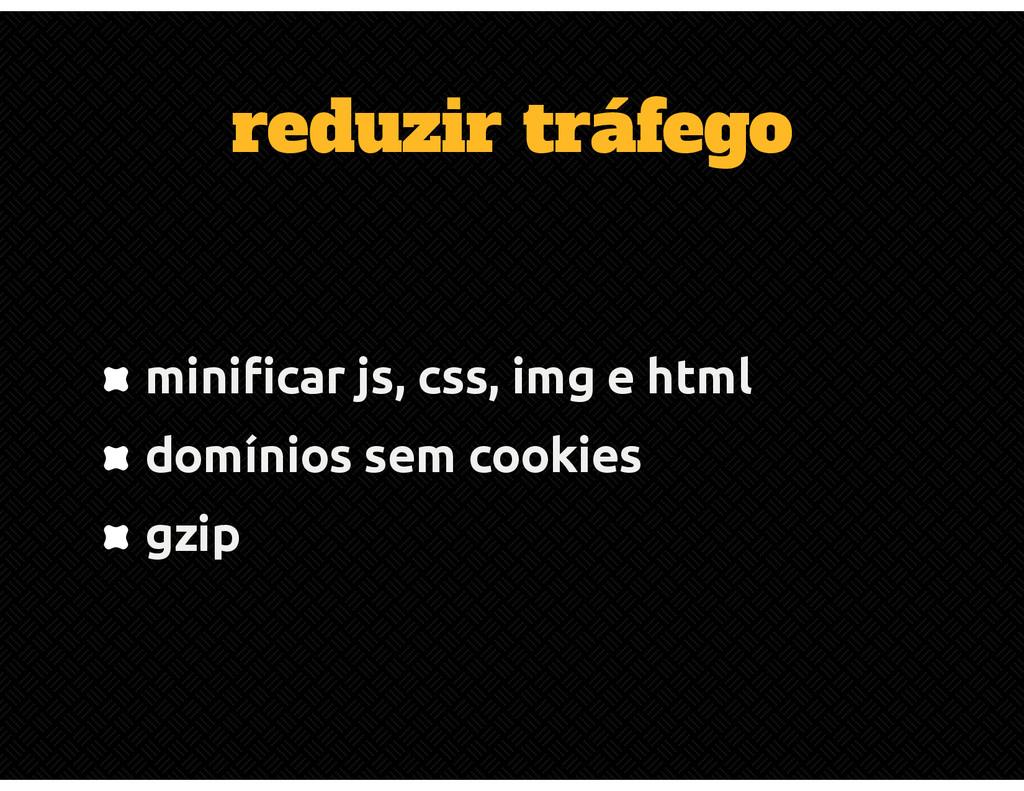 reduzir tráfego minificar js, css, img e html d...