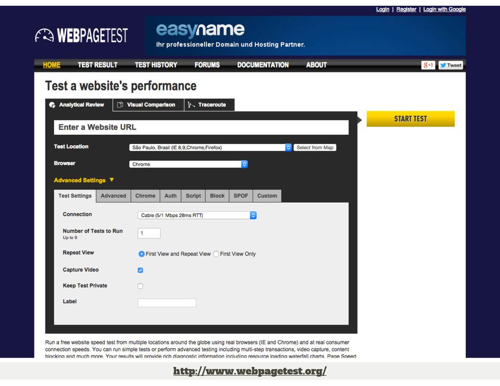 http://www.webpagetest.org/