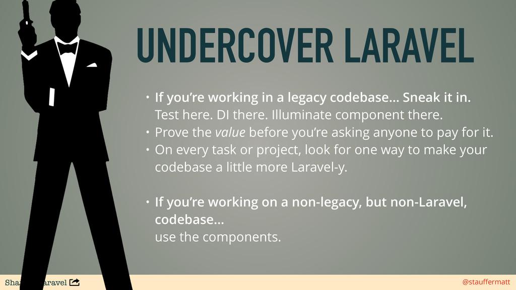 Sharing Laravel @stauffermatt UNDERCOVER LARAVEL...