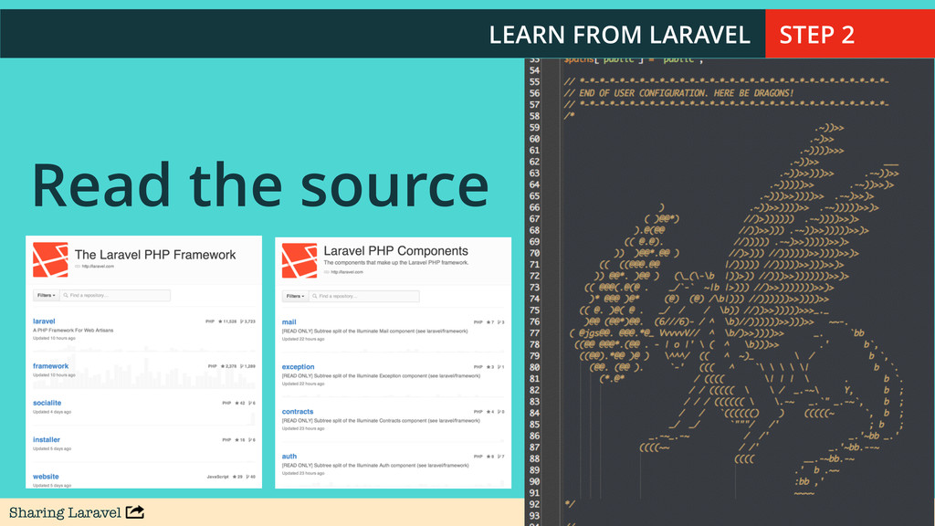 Sharing Laravel @stauffermatt Read the source LE...