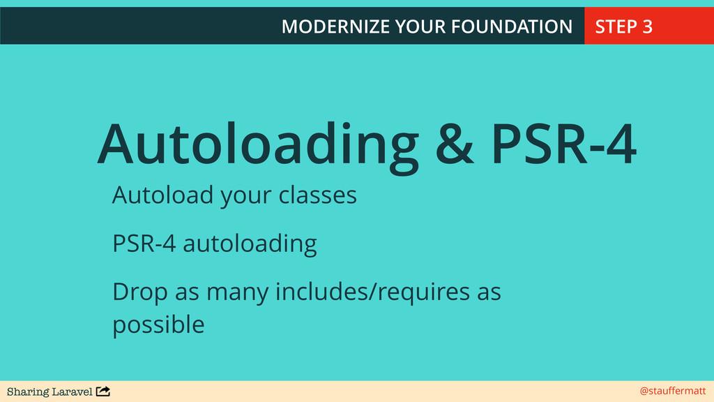 Sharing Laravel @stauffermatt Autoloading & PSR-...