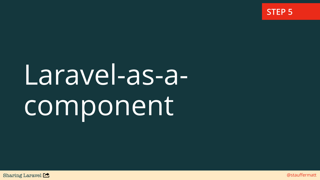 Sharing Laravel @stauffermatt Laravel-as-a- comp...