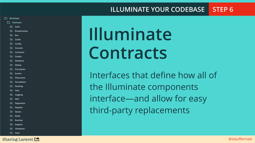 Sharing Laravel @stauffermatt ILLUMINATE YOUR CO...