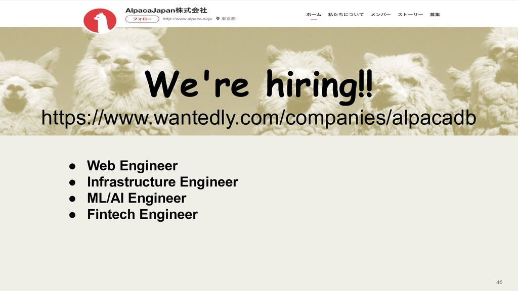 46 We're hiring!! https://www.wantedly.com/comp...