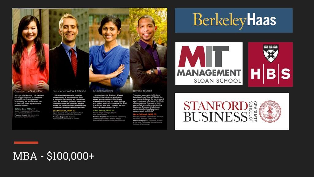 MBA - $100,000+