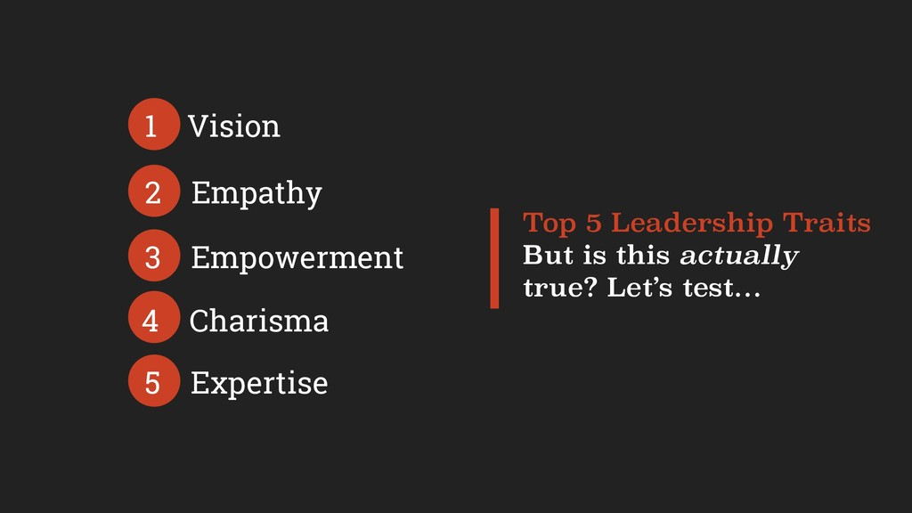 Top 5 Leadership Traits