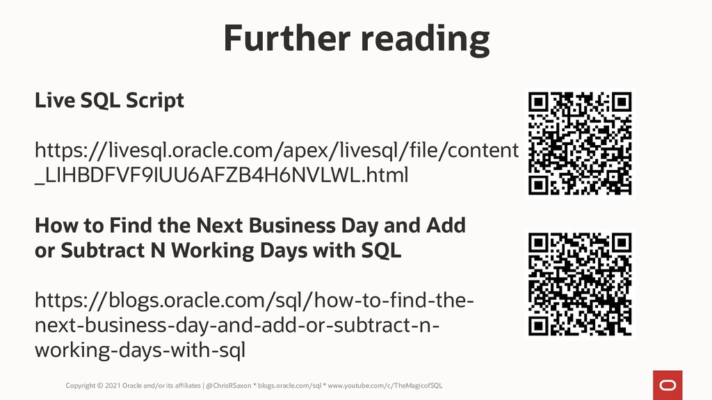 Copyright © 2021 Oracle and/or its affiliates |...
